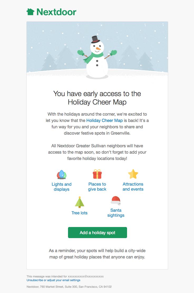 Nextdoor sent this email with the subject line Matthew