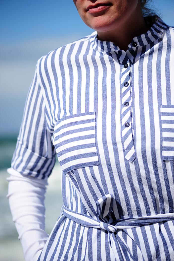 .: DIY striped shirtdress :.