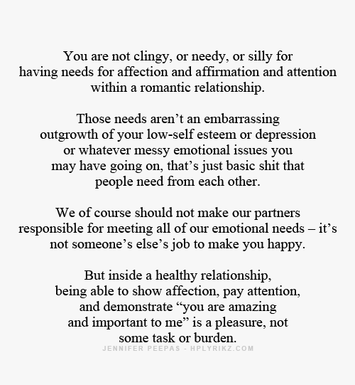 needy in relationship