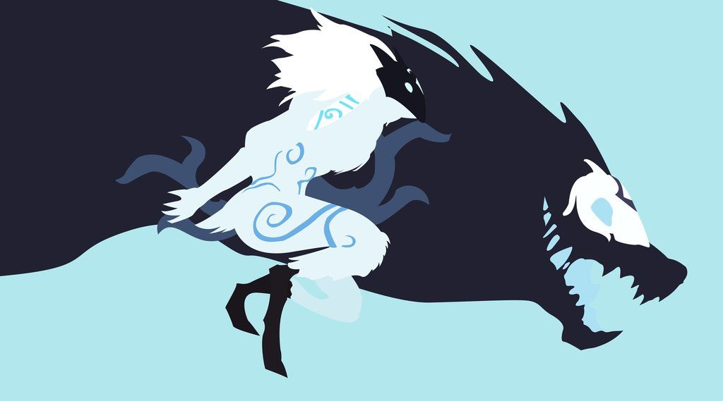 Kindred Minimalist By Knixt Lambs And Wolves League Of Legends League Of Legends Characters