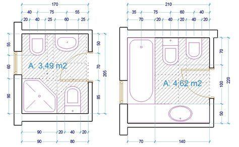 esempio dimensioni sanitari bagno | Progetti da provare | Pinterest