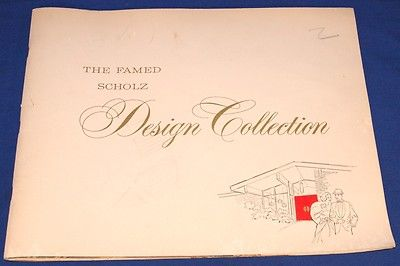 The Famed Scholz Design Collection Catalog Mid Century Homes Architectural  Book