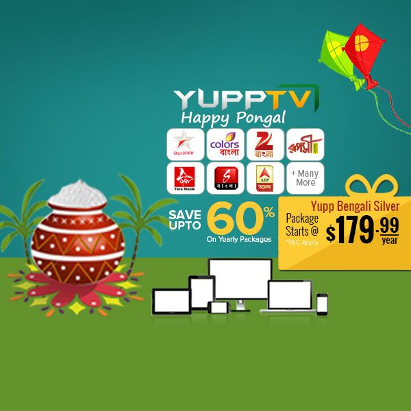#YuppTV #Pongal Offer for #Australia customers. Save upto 60% and grab Yupp Bengali Silver package at just $179.99/year.. #YuppTVAUS Get it @ http://www.yupptv.com/allpackages.aspx