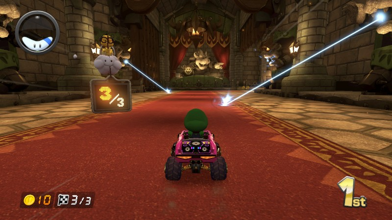 Lasers From Bowser S Castle Mario Kart 8 Bowser Mario Kart