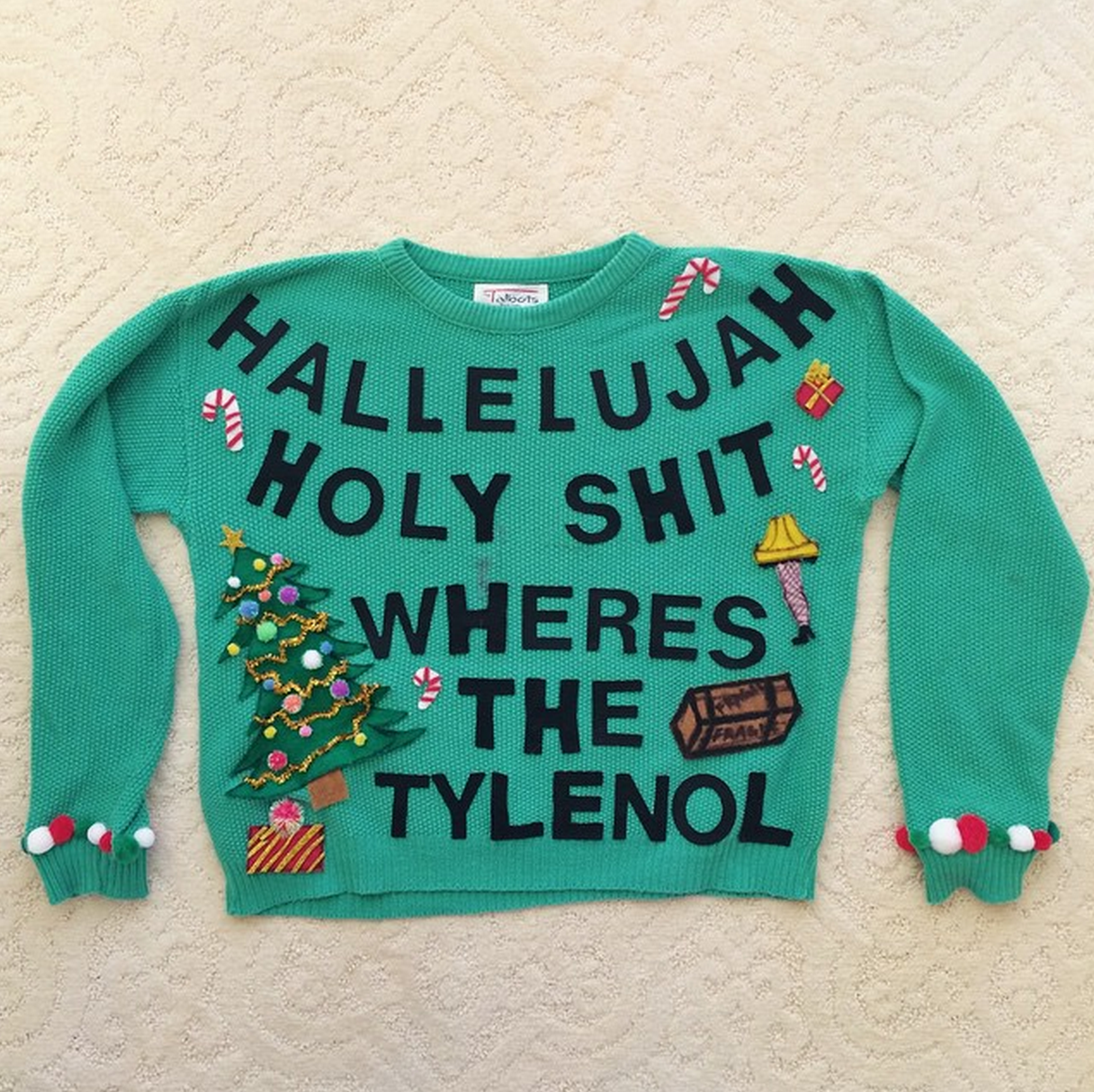 Diy Ugly Christmas Sweater Inspired By My Two Favorite Movies National Lampoons Christmas Vacation And A Christmas Story Wheresthetylenol