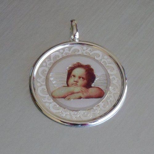 Medallón de plata Angelote.