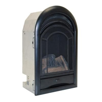 Procom Heating Ventless Fireplace Insert Thermostat Control Arched Door 15 000 Btu Black Ventless Fireplace Insert Wood Burning Fireplace Inserts Fireplace Inserts