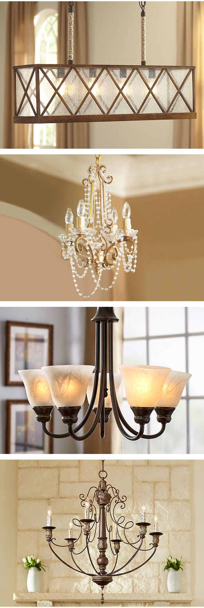 Small 4 Lights Glass Chandeliers | Ashley Furniture HomeStore