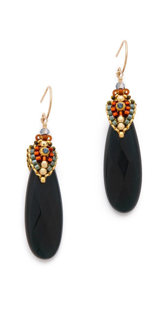 Miguel Ases Cup Beaded Earrings | 15% off first app purchase with code: 15FORYOU