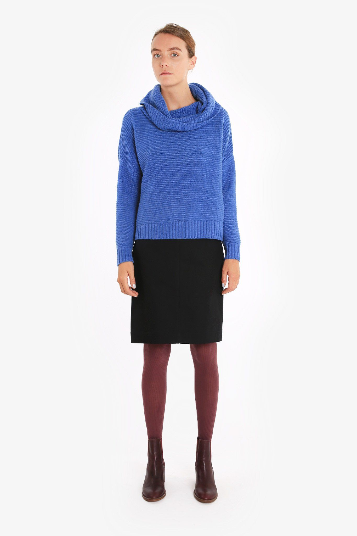 Eilean Cowl Sweater | Cowl neck, Shoulder and Knitwear