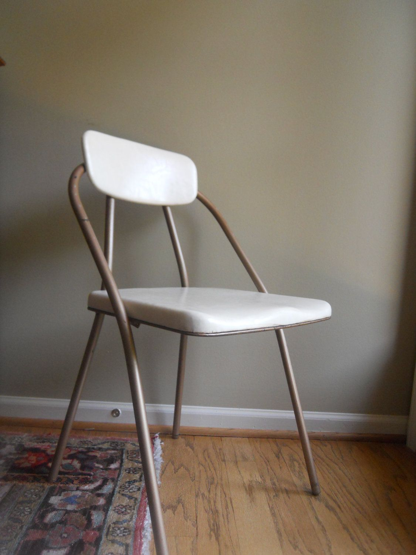 Mid Century Hamilton Cosco Metal and Vinyl Folding Chair ...
