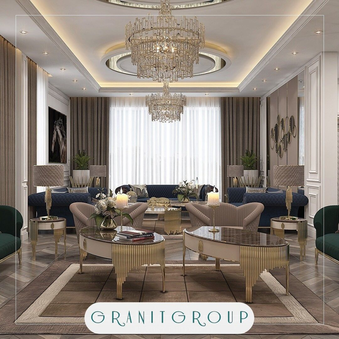 ديكور جبس بورد سقف صالة مودرن في إسطنبول Interior De Design Home Decoracao De Interiores
