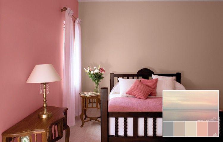Altrosa Und Beige Als Wandfarben Im Schlafzimmer