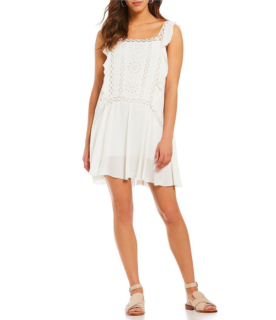 0276951d6fe Free People Priscilla Embroidered Eyelet Shift Dress