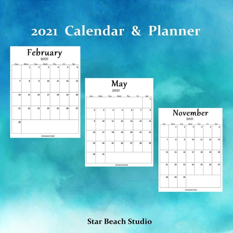 2021 Wall Calendar and Yearly Planner, Desk Pad ...