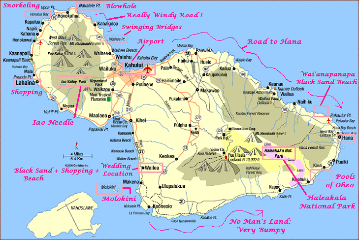 Hawaii Map Maui.Looking Forward To Exploring Waterfalls In Maui Guide Map Maui