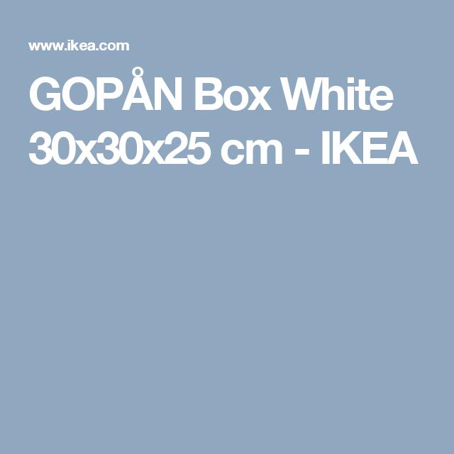 GOPÅN Box White 30x30x25 cm  - IKEA