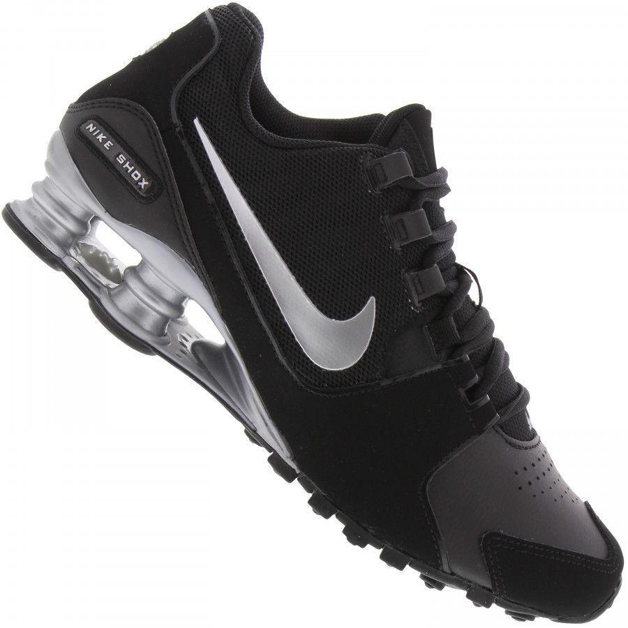 Tênis Nike Shox Junior Preto e verde
