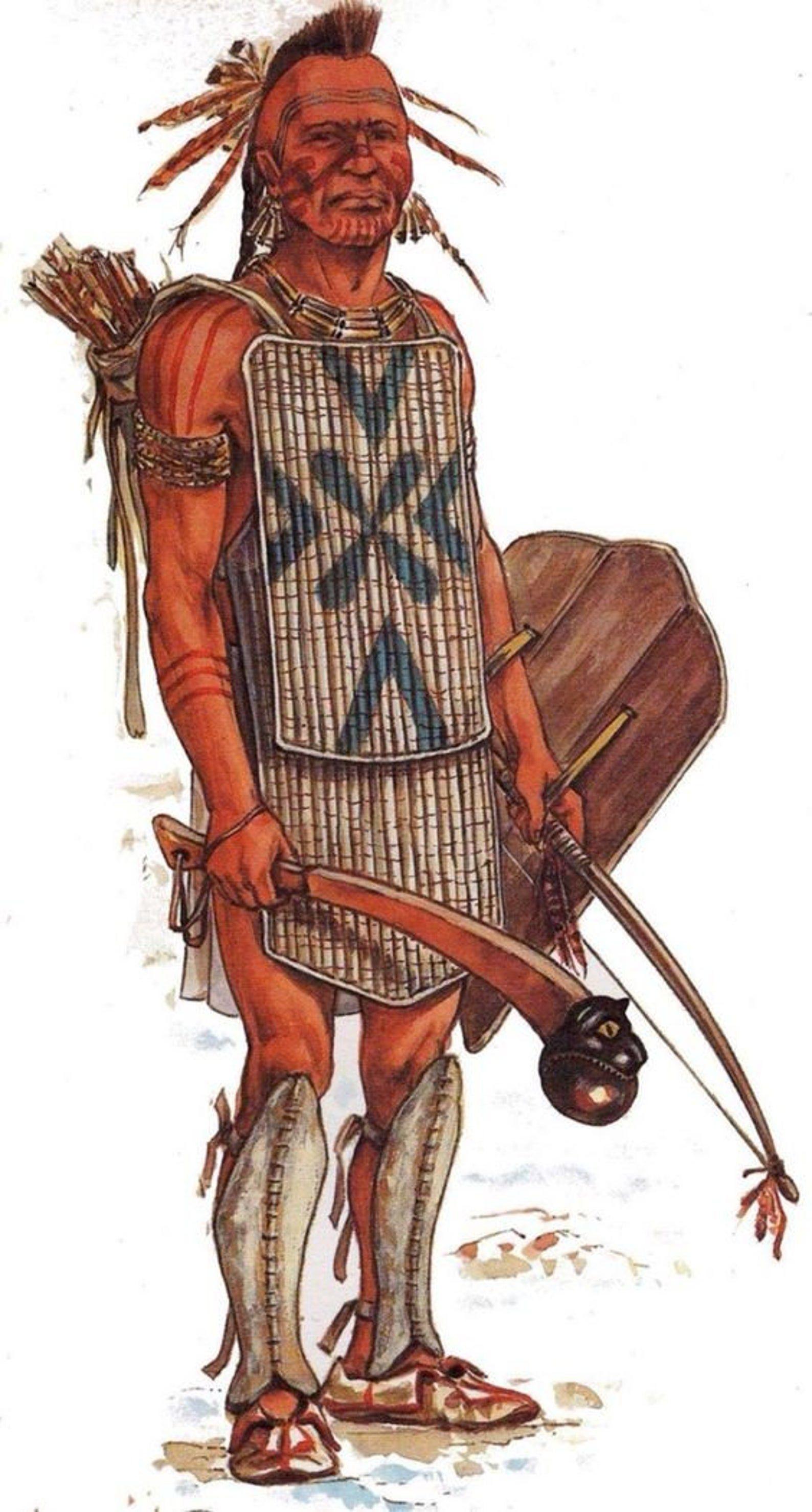 2 Day Iroquois Native American Handmade Ball Head War