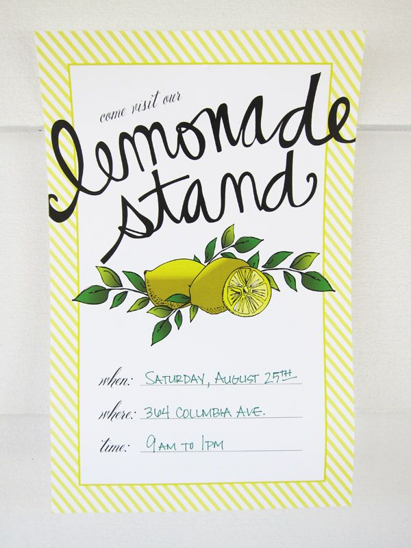 Lemonade Stand Printables | Party printables, Summer and Drinks