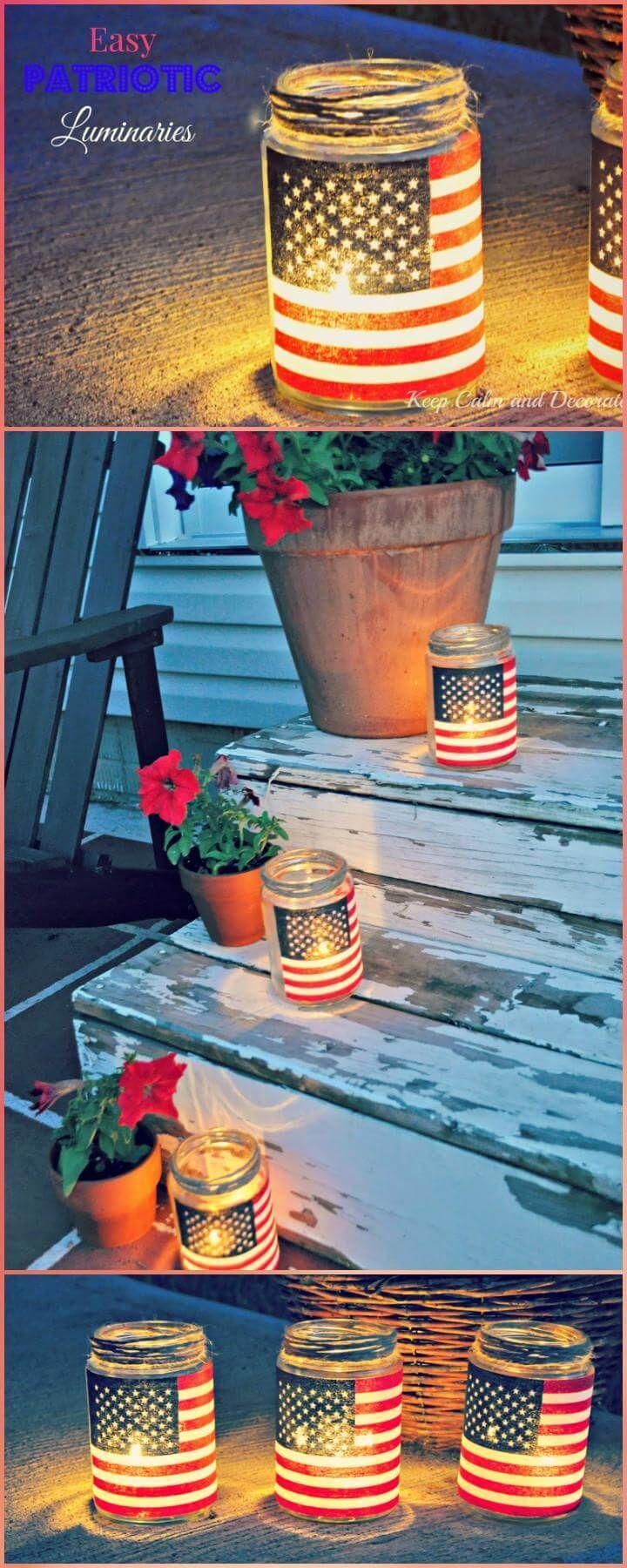 30 DIY 4th of July Decorations – Patriotic Fourth of July Projects 2018 images