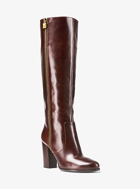 aee18554b41682 Michael Kors Margaret Leather Boot