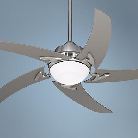 "52"" Casa Vieja Capri Brushed Nickel Ceiling Fan with Light ..."