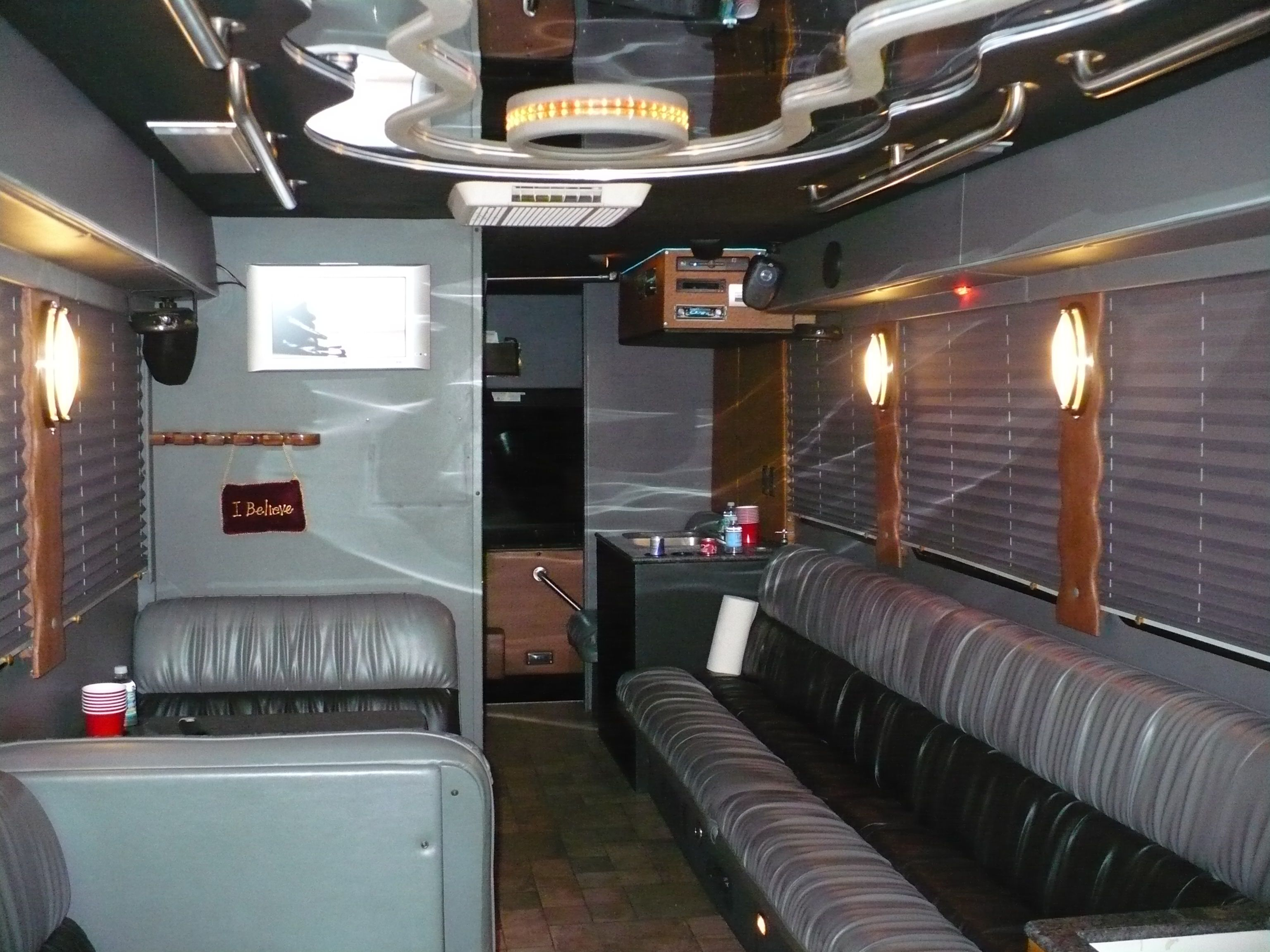 Super Limo Party Bus Interior