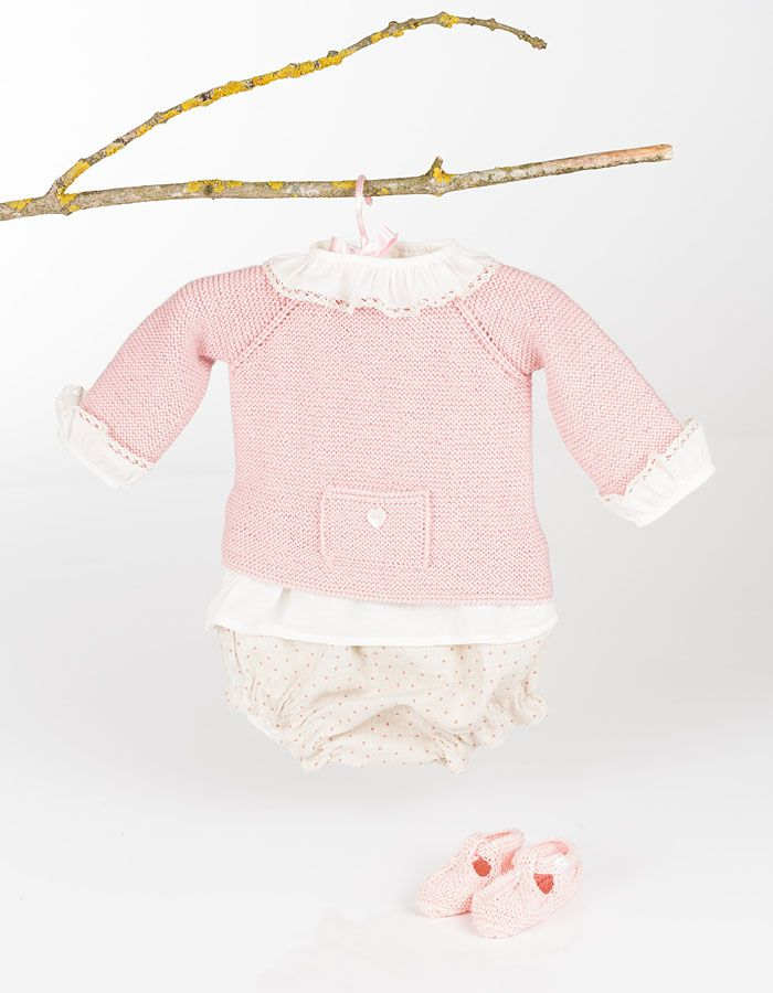 Conjunto niña | Knitting/Punto bebe | Pinterest | Ropa para niñas ...