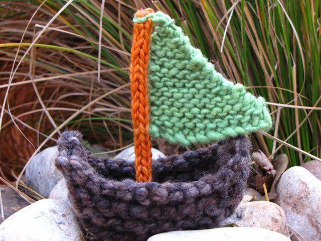 Free Knitting Pattern Toys Dolls Stuff Animals Sailboat Knit