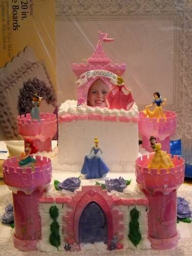 Girls princess castle cake... made one of these before too!!
