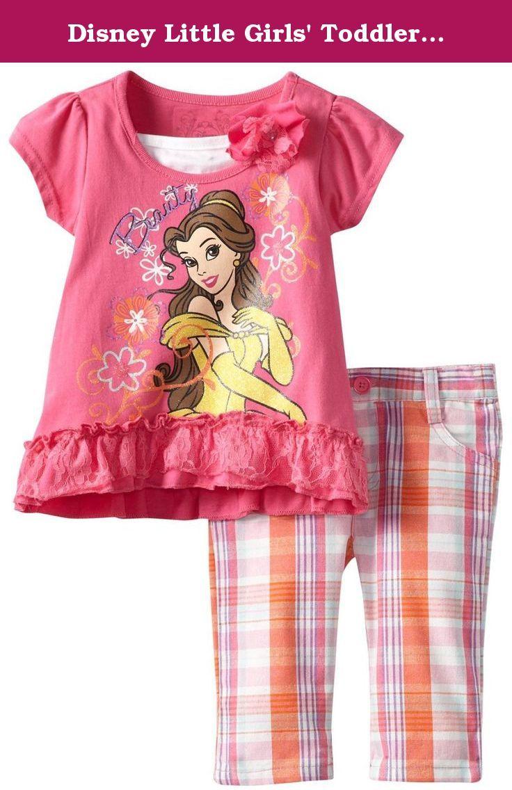 dce1165abeac Disney Little Girls  Toddler Belle Capri Pant Set
