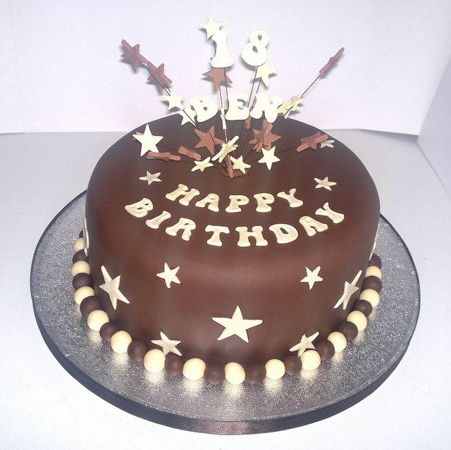 Chocolate 18th Birthday Cake
