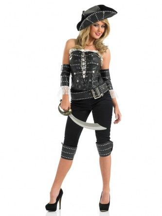 Ladies Ship's Mate pirate fancy dress costume. Pirate wench. Pirates of the Caribbean. Pirate lady outfit. Perfect for a New Year's Eve party.