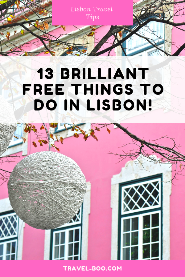 13 Brilliant Free things to do in Lisbon, Portugal! #lisbon