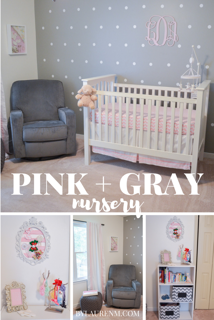 The Perfect Pink Grey And White Nursery With Fun Mixed Patterns Such As Stripes Polka Dots Chevron Click Through For All Details