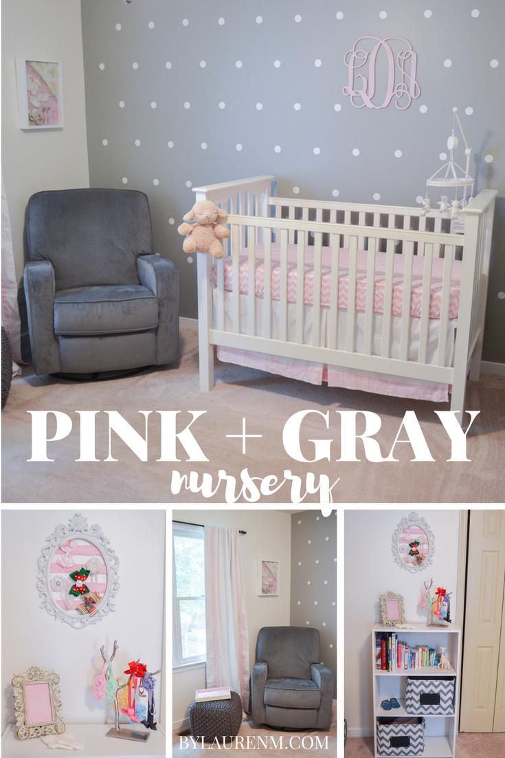 Pink Grey And White Nursery Baby Girl Nursery Room Ideas Pink