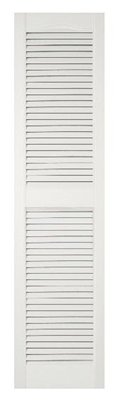 Severe Weather 14-1/2-in x 48-in White Louver Shutter - Lowe's Canada