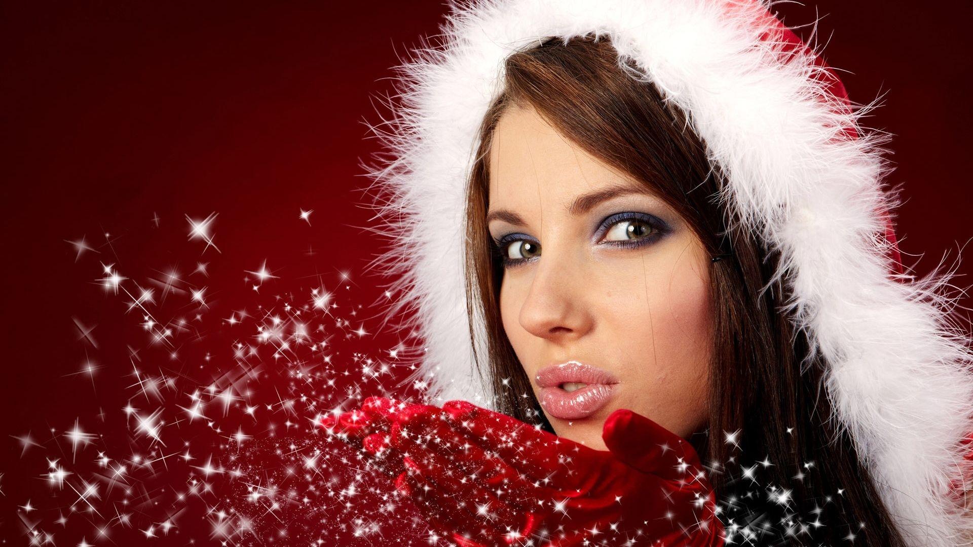 Hd Wallpapers Widescreen 1080P 3D - Cute Christmas Girl Hd