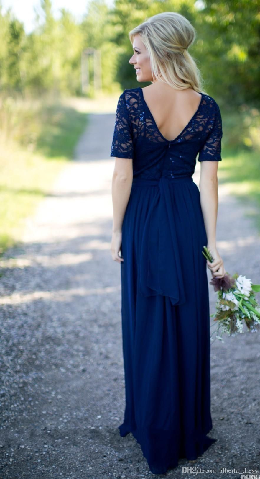Country bridesmaid dresses new hot long for weddings royal blue