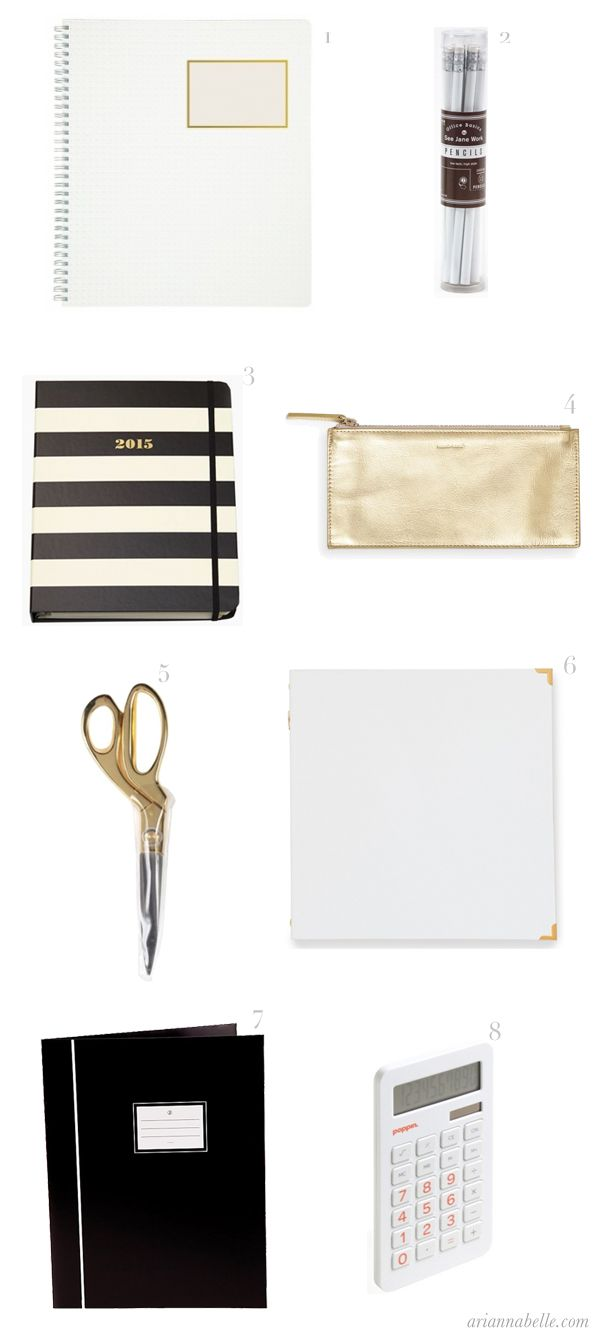 Arianna Belle The Blog: Stylish, Grown-up School Supplies