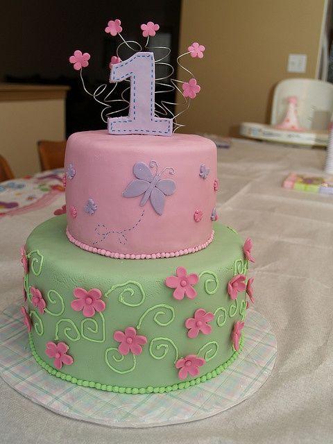 Butterfly Birthday Cake Baby girl birthday cake Girl birthday and