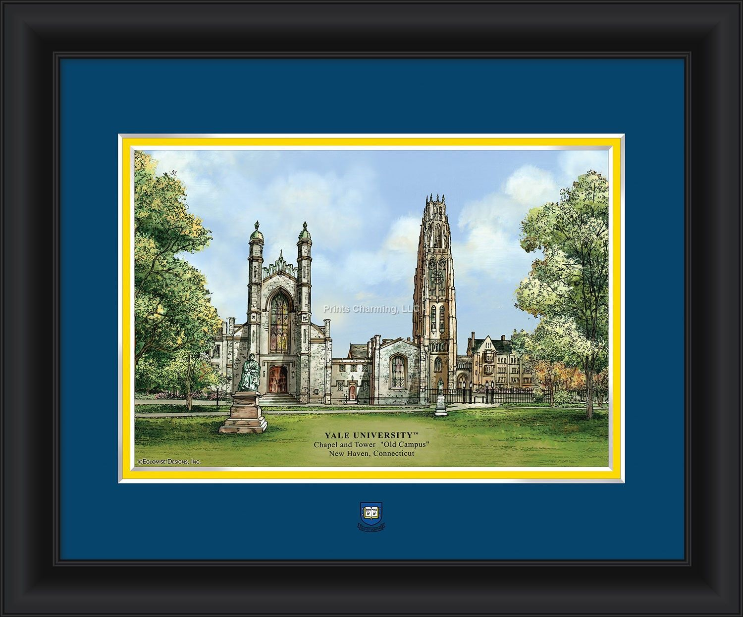 "Yale University ""Campus Images"" 15 x 18 Framed Commerorative Photo"
