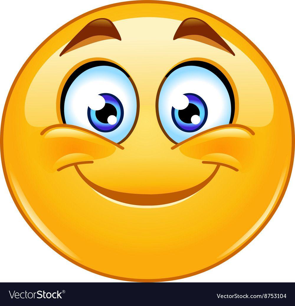 Smiling Emoticon Vector Image On
