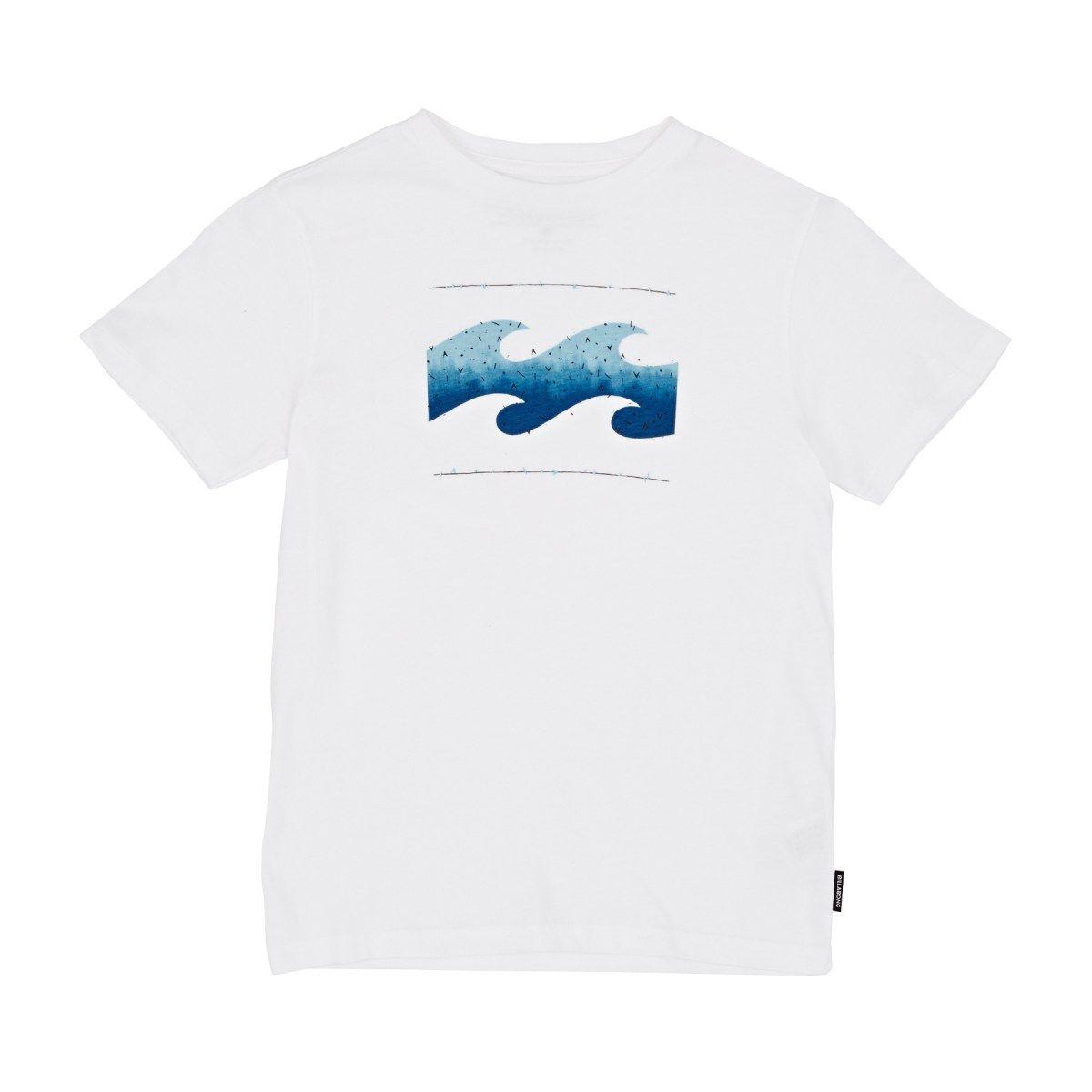 Billabong T-shirts - Billabong Hashed Wave Boys T-shirt - White