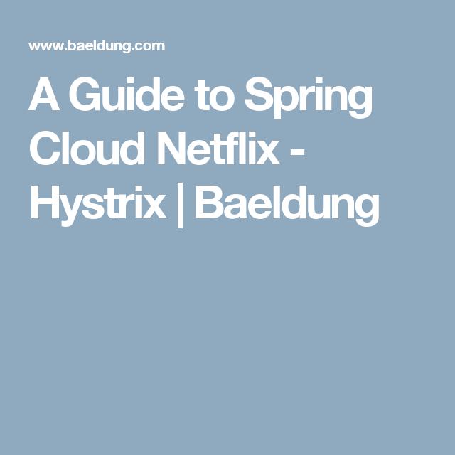A Guide to Spring Cloud Netflix - Hystrix | Baeldung | Bookmarks