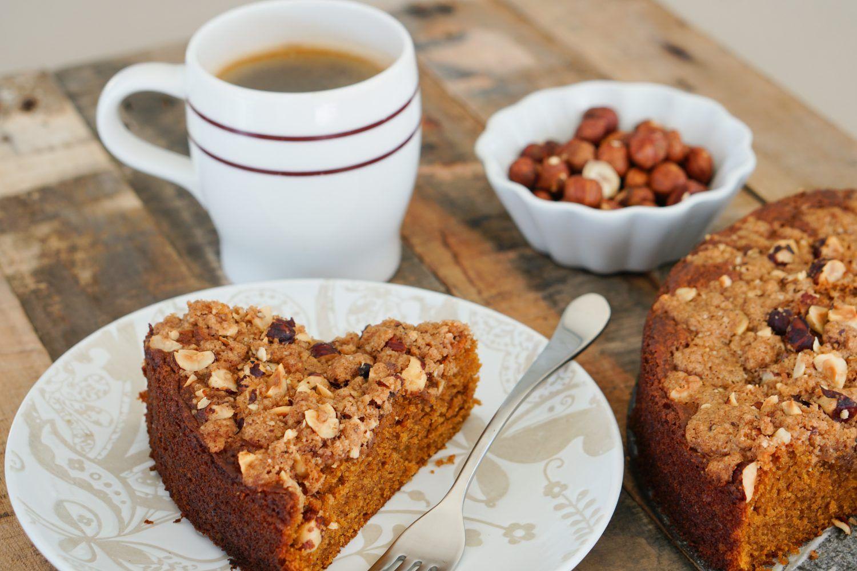 Pumpkin Coffee Cake with Hazelnut Streusel Recipe