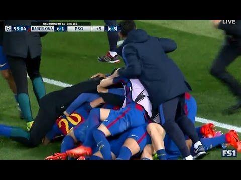 Last 10 Minutes of Barcelona vs PSG 6-1 UCL 2017 - YouTube ...