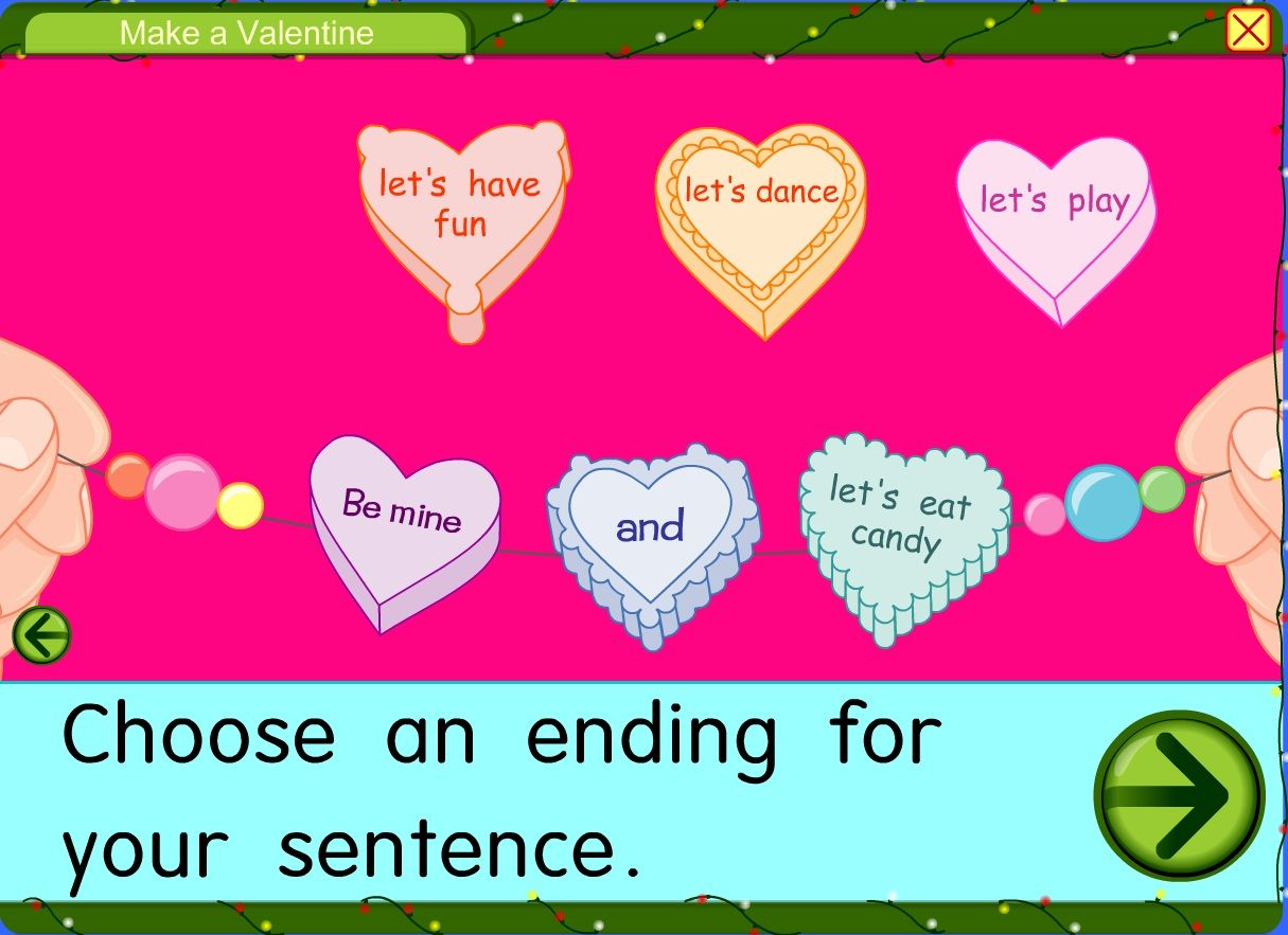 Make A Valentine With Connecting Words Free Via Starfall
