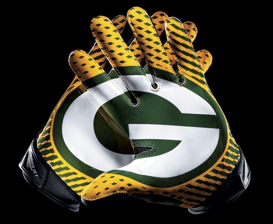 Green Bay Nike Football Gloves Pinterest